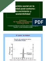 El cambio social en la sociedad post-carbono