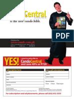 Condo Central Magazine Subscription Form