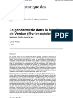 La gendarmerie dans la bataille de Verdun (février-octobre 1916)