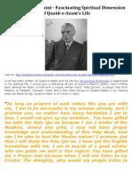 Jinnah (r.a) the Saint - Fascinating Spiritual Dimension of Quaid-e-Azam's Life