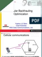 Cellular Back Hauling Optimization