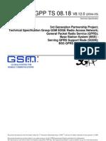 3GPP TS 08.18 V8.12.0