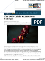 The Debt Crisis at American Colleges - The Atlantic