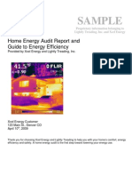 Energy Audit Sample Report