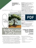 Fruitfulness 9 Psalm 139-13-16 Handout 092511