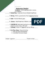 Center Checklist