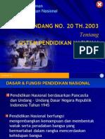 01. UU No 20 Th 2003 Ttg Sisdiknas