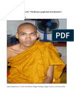 "Ashin Nandaciriya (25)""The Burmese people must do it themselves"""