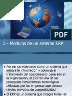 2.- Modulos de Un Sistema ERP