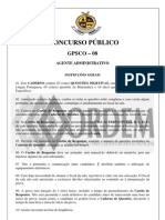 PROVA AGENTE ADMINISTRATIVO611