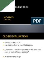 Choosing a Course Book Close Evaluation Chapter 3 Mcgrath