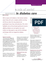 Defining the Role of Social Workers in Diabetes Care