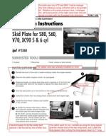 Ipd Volvo V70, S60 Aluminum Skid Plate Pi 286 Skid Plate Installation Instructions