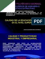CALIDAD DE LA EDUCACIÓN EN MÉXICO