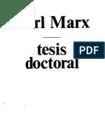 Marx, Karl - Tesis Doctoral