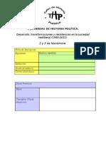 Formula Rio Ficha Inscripcion v Jornadas de Historia Poltica
