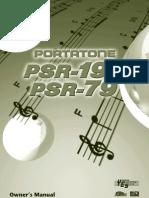 PSR195E Manual