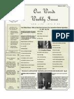 Newsletter Volume 3 Issue 37