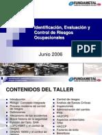 Identificación, evaluación y control de riesgos ocupacionales