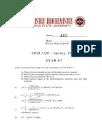 Exam 3 - Key