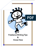 Freelance Writing Tips and Know How
