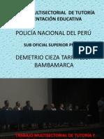 POLICÍA NACIONAL DEL PERÚ TRABAJANDO POR LA EDUCACIÓN EN BAMBAMARCA