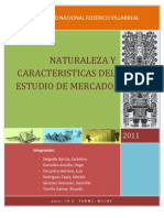 Nat. y Car. Del Estudio de Mercado.