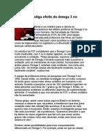 Estudo Investiga Efeito Do Õmega-3 No Organismo - Nutrição