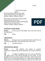 Wedding Mass Booklet - Both Side Form English