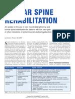 Lumbar Spine Rehabilitation