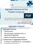 Lec.1. Aggregate Demand and the Powerful Consumer