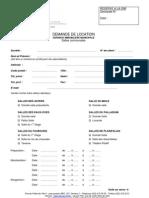 Form -- Demande de Location Salles Communales