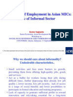Informal sector and quality employment in Asian MICs (Presentation)