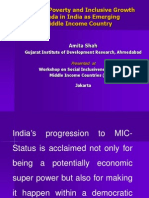 The New Poverty and Inclusive Growth Agenda in India as Emerging Middle Income Country  (Presentation)