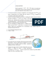 Worksheet on Dynamics
