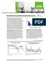 SEB's House Price Indicator in steep fall