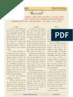 "Psalm 130 v3-4, ""Record"""