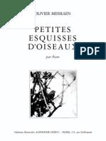 Messiaen - Petites Esquisses d'Oiseaux