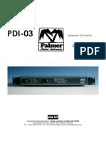 Palmer PDI-03 Manual