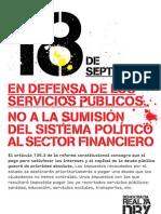 Carteles para el 18S de DRY Barcelona (NO recortes sanidad)