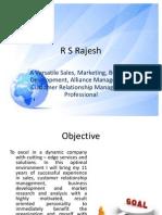 My Resume - RSRajesh - Sales Mktg - BD- CRM