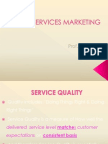 Services Marketing- Service Quality