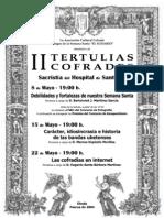 El Sudario 2004 - Cartel II Tertulias Cofrades
