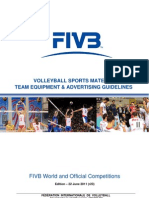 FIVB Volleyball Sports Material Team Equipment and Advertising Guidelines 20110621 v2
