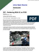 Diy - Soldering Bga Ic on Pcb