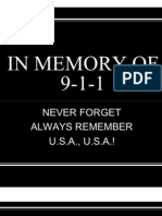 IN MEMORY OF 9-1-1 by Ray