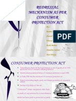 Redressal Mechanism as Per Consumer Protection Act