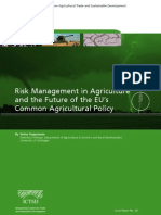 Risk Management in Agriculture and the Future of the EU's Common Agricultural Policy