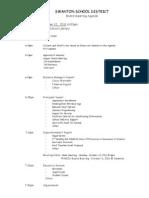 Swanton School Board Agenda-9.12.11