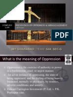 Prevention of Oppression & Mismanagement